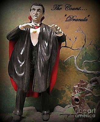 Dracula Model Kit Print by John Malone
