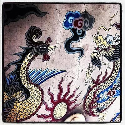 Dragon Photograph - Dragon And Phoenix #dragon #phoenix by Julian Tirazona