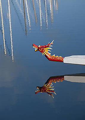 Dragon Boat At Berkeley Marina Original by Marcia Poole and Louis Cuneo