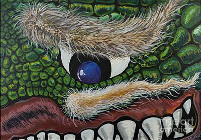 Cyclops Painting - Dragon Cyclops by Doug LaRue
