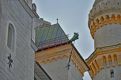 Adolf Digital Art - Dragon. Neuschwanstein Castle. Bavaria. Germany. by Andy Za