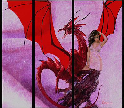 Dragon Power-featured In Comfortable Art Group Print by EricaMaxine  Price