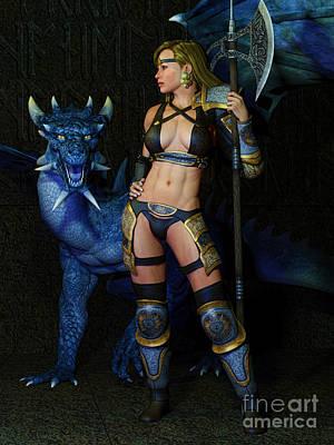 Champion Digital Art - Dragon Prophecy by Alexander Butler