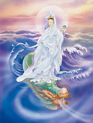 Dragon-riding Avalokitesvara  Print by Lanjee Chee