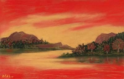 Dragon Sunset Print by Anastasiya Malakhova