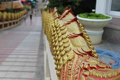 Dragon Photograph - Dragon Tail Along Stairs by Michael Kim
