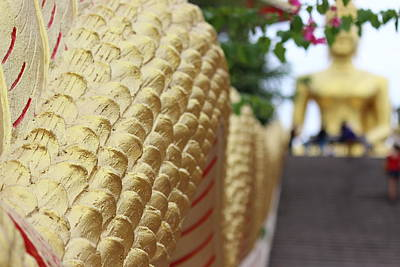 Dragon Photograph - Dragon Tail With Buddha by Michael Kim