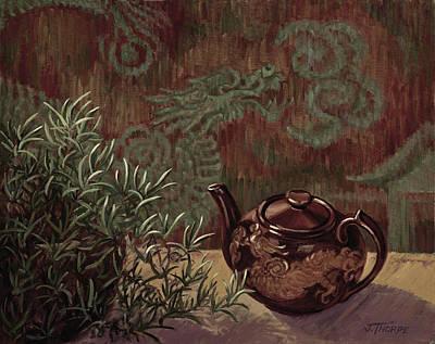Dragon Teapot Original by Jane Thorpe