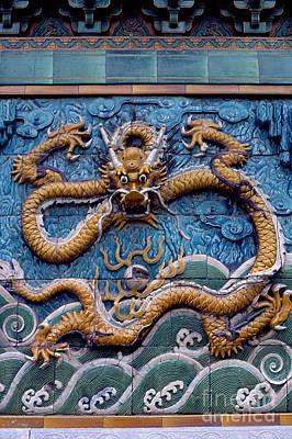 Ceramic Relief Photograph - Dragon Wall by Eva Kato