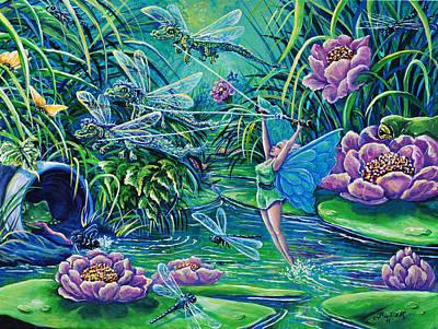 Dragonflies Original by Gail Butler