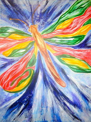 Openness Painting - Dragonfly Freedom by Sister Rebecca Shinas