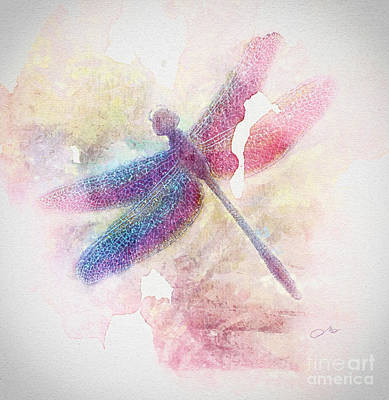 Lacewing Painting - Dragonfly by Mo T