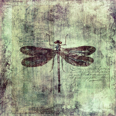 Insects Digital Art - Dragonfly by Priska Wettstein