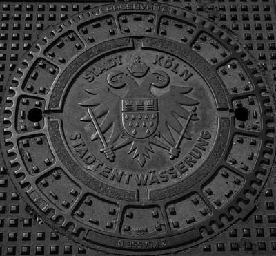 Dining Hall Photograph - Drain Cover Cologne Germany by Teresa Mucha