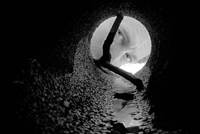 Introduction Photograph - Drain Pipe - Artist Self Portrait by Gary Heller