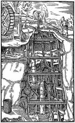 Machinery Photograph - Draining Mine by Universal History Archive/uig