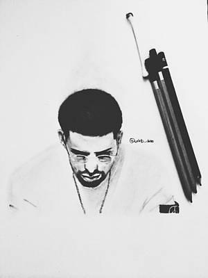 Drizzy Drawing - Drake Drawing by Caleb Tony