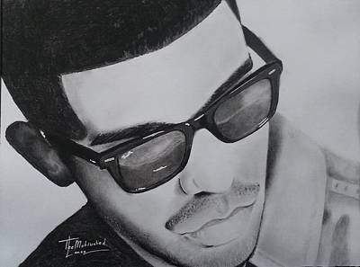 Drake Drawing - Drake Portrait by Lance  Freeman