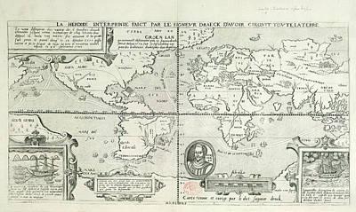 Drake Photograph - Drake's World Voyage by British Library