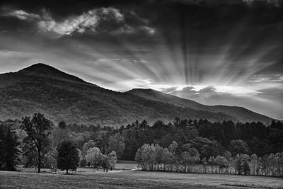 Surreal Landscape Photograph - Drama In The Smokies by Andrew Soundarajan