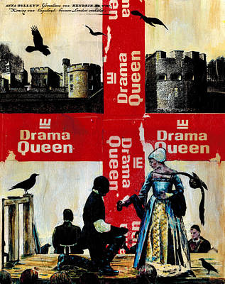 Tower Of London Mixed Media - Drama Queen by Paul Banham