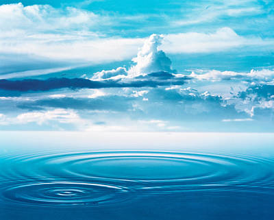 Deep Blue Photograph - Dramatic Cloud Formations Above Rings by Panoramic Images