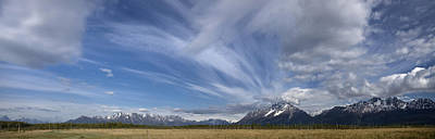 Dramatic Clouds Over Pioneer Peak And Print by Hal Gage