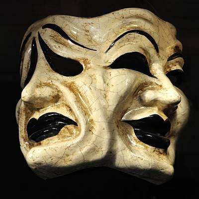 Paper Mache Photograph - Dramatic Mask by Matt MacMillan