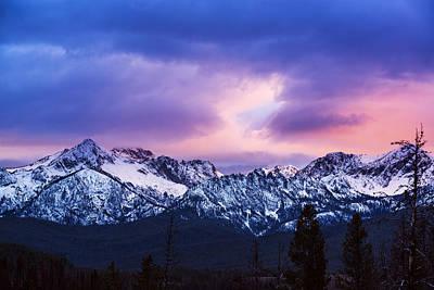 Sawtooth Mountain Art Photograph - Dramatic Sawtooth Sunset by Vishwanath Bhat