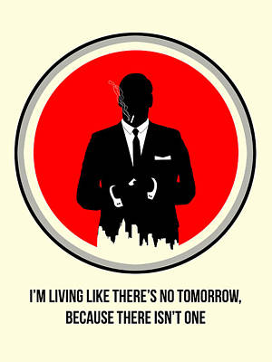 Mad Men Digital Art - Draper Poster 2 by Naxart Studio