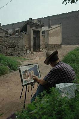 Drawing An Ancient House Besides Ancient Wall Original by Zhao  Liling