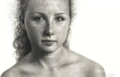 Drawn Face IIi - Alison Print by Dirk Dzimirsky