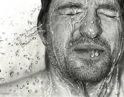 Drawn Face Vi Print by Dirk Dzimirsky