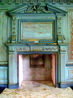Drayton Fireplace 1 Print by Randall Weidner