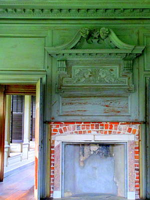 Drayton Fireplace 2 Print by Randall Weidner