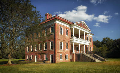 Drayton Hall Plantation House Print by Mountain Dreams