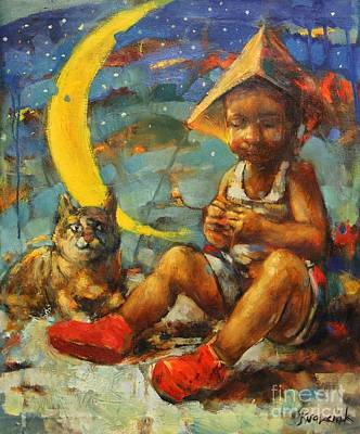 Native American Symbols Painting - Dream Catcher by Michal Kwarciak