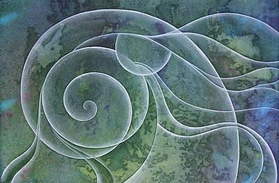 Inktense Painting - Dream Flow 1 by Ellen Starr