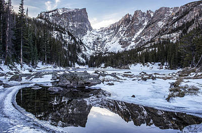Dream Lake Reflection Print by Aaron Spong