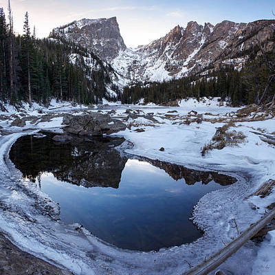Landscape Photograph - Dream Lake Reflection Square Format by Aaron Spong