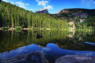 Dream Lake Rocky Mountain National Park Print by Wayne Moran