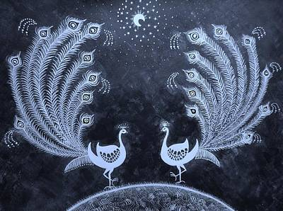 Indian Tribal Art Painting - Dream Land II by Anjali Vaidya