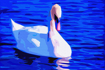 Nibs Mixed Media - Dream Swan 2 by Brian Stevens