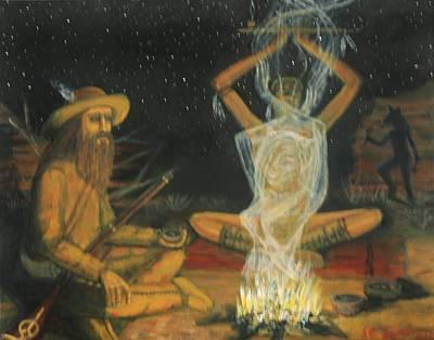 Kansas Artist Painting - Dream Weaver by Larry Lamb