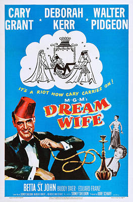 Dream Wife, Cary Grant Left, Deborah Print by Everett