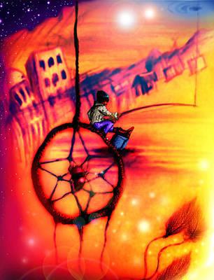 Dreamcatcher Print by Ruben Santos