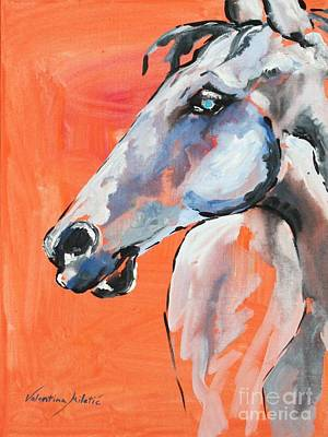 Cowboy Painting - Dreamer - Horse Art By Valentina Miletic by Valentina Miletic