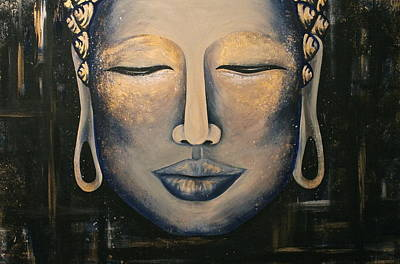 Buddha Painting - Dreaming Buddha by Allison Liffman