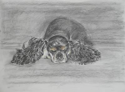Cocker Spaniel Painting - Dreaming by Elena Broach