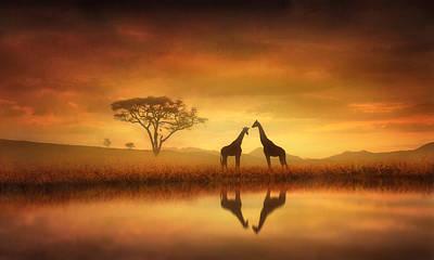 Sunset Digital Art - Dreaming Of Africa by Jennifer Woodward